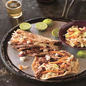 Beer Braised Spicy Beef Tacos